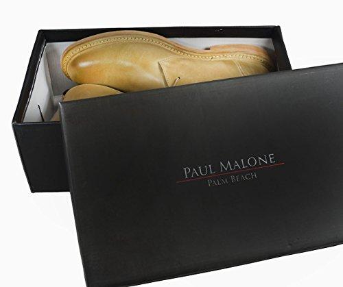 Botas De Vestir De Cuero Para Hombres De Paul Malone. 100% Cuero Antiguo Cheeku