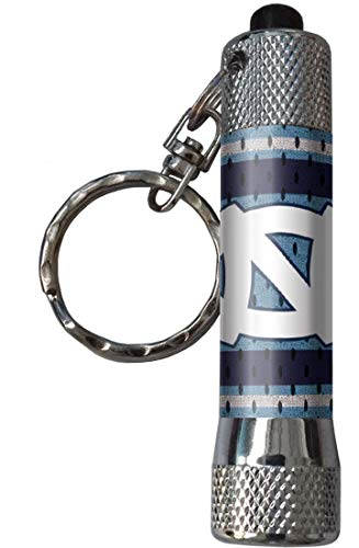 WinCraft Bundle 2 Items: North Carolina Tar Heels UNC Flashlight Keychain and 1 Premium Badge Reel Id Holder by WinCraft (Image #1)