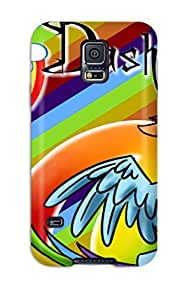 New Style 2979159K58810865 Top Quality Case Cover For Galaxy S5 Case With Nice Beautiful Rainbow Dash Appearance
