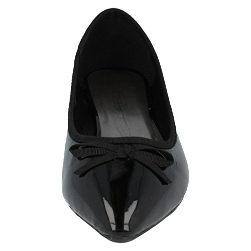 Flats Damen On Detail Schwarz Spot Bow IISqYw