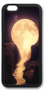 iPhone 6 Cases, Personalized Custom Soft Black Edge Case Cover for New iPhone 6 4.7 inch Pour The Moon