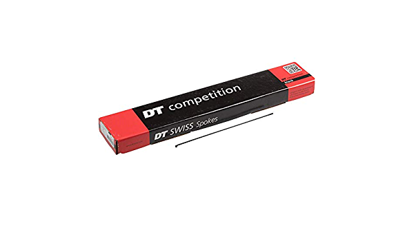 Black 2.0 18x DT Swiss Competition Double Butted Spokes 2.0 1.8 302mm