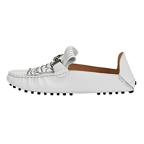 jenn ardor Women's Convertible Loafer Slides Slip-on Mules Slippers Leather Flat Shoes Driving Moccasins by jenn ardor (Image #4)'