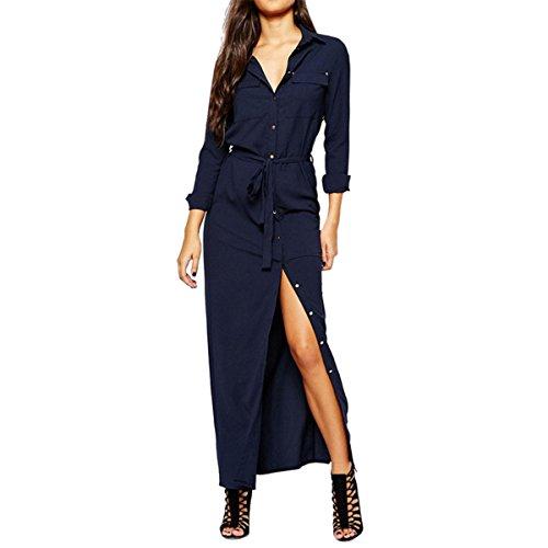 Buy belted maxi shirt dress - 4