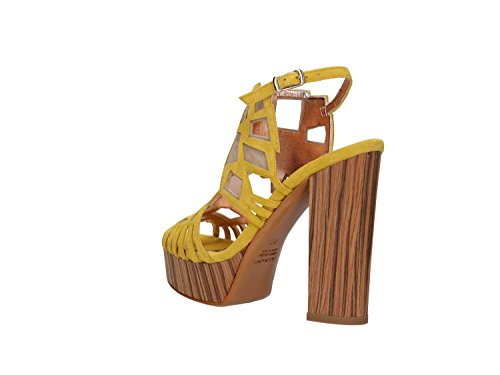 Sandals 9807 Women Albano Giallo Beige Heeled High 1tnZd