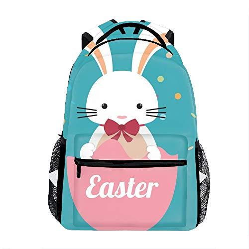 3D Printing Happy Easter Design School Bookbag Travel Backpack 11.5x8x16