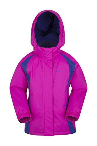 Mountain Warehouse Honey Kids Ski Jacket - Boys & Girls Winter Coat Pink 3-4 Years -