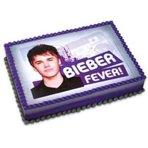 Amazon Com Justin Bieber Icing Art Image Cake Topper