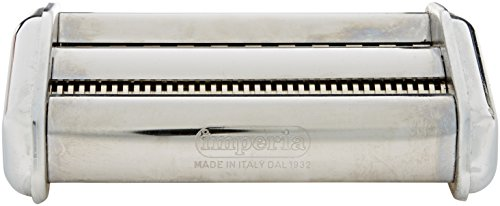 CucinaPro Imperia Pasta Maker Machine Attachment - 150-24 Double Cutter - Stainless Steel Double Cutter Pasta Machine