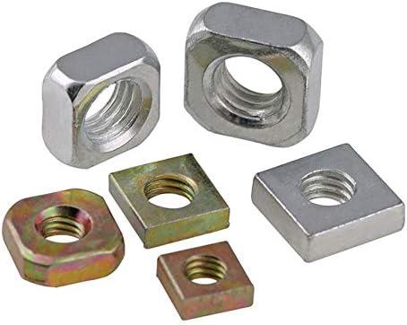 20//50Pcs Color Zinc Plated Square Nuts Galvanized Square Nuts M3 M4 M5 M6 M8 M5 x 8 x 3 50pcs