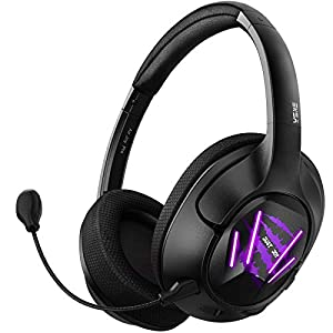 EKSA Ultralight USB Gaming Headset – 7.1 Surround Sound Headphones with Breathable Earmuffs – Noise Cancelling Mic – Over Ear Gaming Headphones for PC, PS4, Xbox One S/X, Nintendo Switch, Android