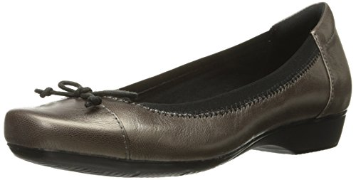 Clarks Women's Blanche Nora Ballet Flat - Pewter Leather ...