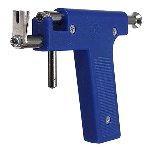 Ear Piercing Starters, Piercer Gun Tools Professional Stainless Steel Nose Ear Navel Body Analgesia Kit