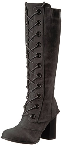 2 Lips Too Womens Too Loaded Fashion Boot Black Wide