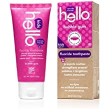 Hello Oral Care Kids Fluoride Toothpaste, Bubble Gum, 4.2 Ounce(Pack Of 4)