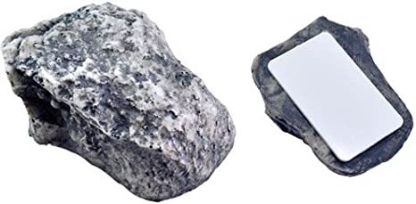 Safe for Outdoor Garden or Yard Looks /& Feels like Real Stone Geocaching Mix N More Inc IIT-RAM-01810-2PK Ram-Pro 2Pc Hide-a-Spare-Key Fake Rock