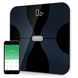 RENPHO FDA Approved Bluetooth Smart Digital Bathroom Body Fat Composition Scale Monitor With Body Weight, Bmi, Body Fat, Water, Skeletal Muscle, Bone Mass, Protein, Calorie And Body Age