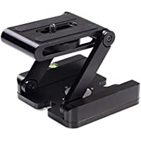 Fotga CNC Aluminum Folding Camera Z Desktop Stand Holder QR Tripod Flex Tilt Ball Head