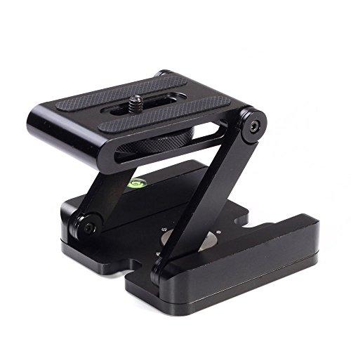 Fotga CNC Aluminum Folding Camera Z Desktop Stand Holder QR Tripod Flex Tilt Ball Head by FOTGA