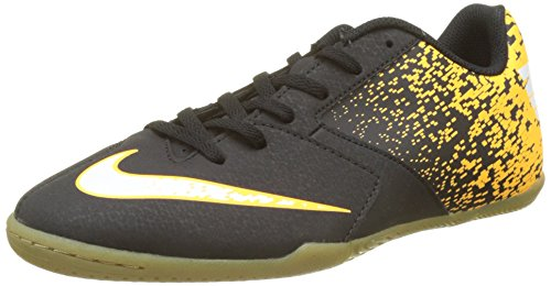 Nike Enfants Bombax Chaussures De Football Dintérieur Noir / Blanc-laser Orange