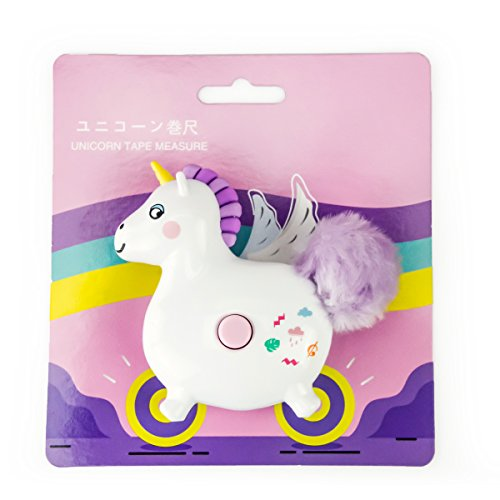 Unicorn Retractable Measuring Tape Travel Soft Tape Measure Portable Pocket Student Cartoon Tape Measure 60-inch&150CM by xincx