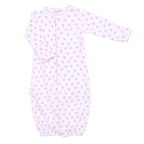 Magnolia Baby Baby Girl Layla's Classics Printed Ruffle Converter Gown Pink (Printed Converter Gown)