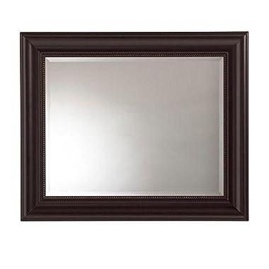 36 X 30 Inch Martha Stewart Living Bevel Desgin Saranac Framed Mirror, Dark Bronze