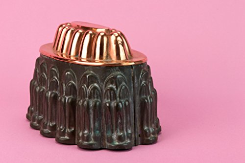 Medium Copper Baking Mould Braun Cake Pie Jelly Oval Victorian Antique English Late 19th Century by Lavish Shoestring (Image #1)