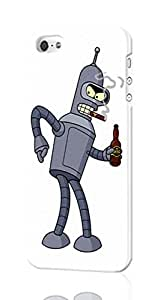 Bender - Futurama Pattern Image - Protective 3d Rough Case Cover - Hard Plastic 3D Case - For iPhone 5 5S