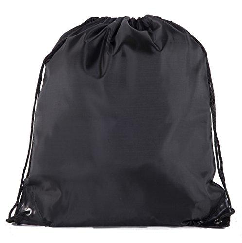 Mato & Hash Basic Drawstring Tote Cinch Sack Promotional Backpack Bag | 15 Colors | 1PK-100PK ()