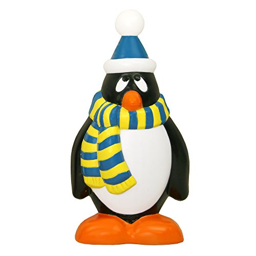 Holiday Penguin with Blue and Yellow Scarf, 28-Inch ()