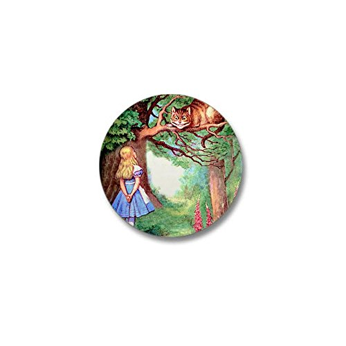 CafePress Alice and the Cheshire Cat Mini Button 1