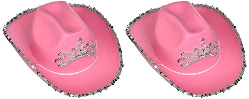 (Rhode Island Novelty Pink Blinking Cowgirl Hat (set of 2) - Child's )