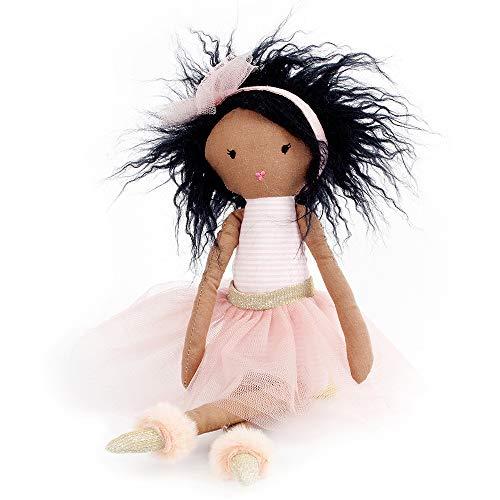 Monami Pink Ballerina Designer Plush Doll (African American), 15