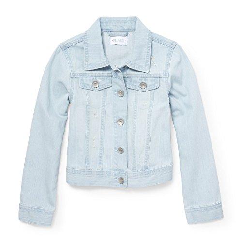 Kids Denim Jacket (The Children's Place Big Girls' Denim Jacket, Icebergwsh 6583, XL (14))