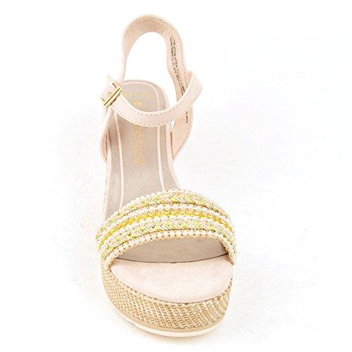 Marco Tozzi 2-2-28327-28-402 - Sandalias de vestir para mujer 402CREAM COMB
