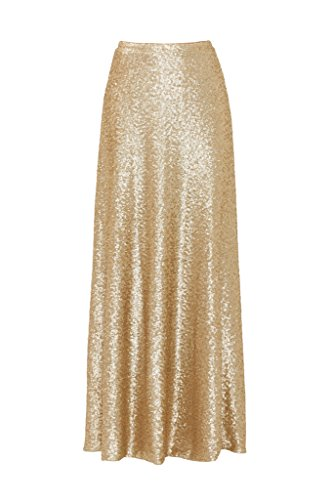 Gold Long Skirt - 2