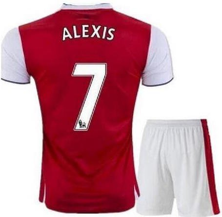 2016-17 Alexis Sanchez #7 Arsenal Football/ Soccer Jersey (Y-L)
