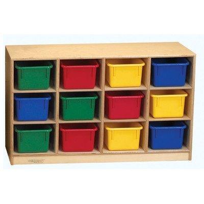 Childcraft 1429287 Toddler Mobile Cubby 12 Unit Capacity Natural Wood Tone [並行輸入品] B07B78B9S4