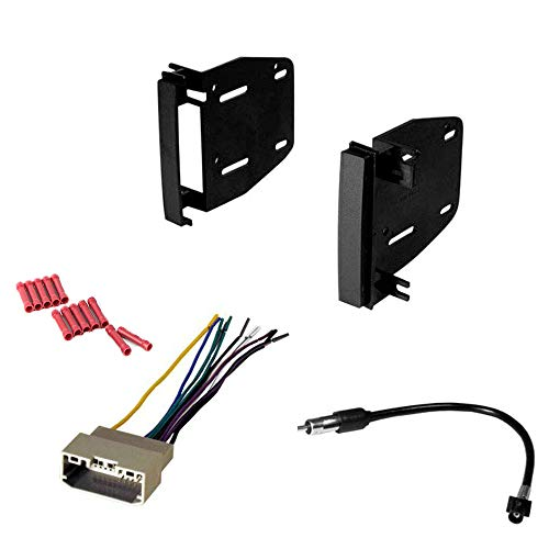 CACHÉ KIT19 Bundle with Complete Car Stereo Installation Kit Compatible with Dodge Vehicles Listed Below - in Dash Mounting Kit, Harness, Antenna Adapter for Double Din Radio Receivers (4 Item)