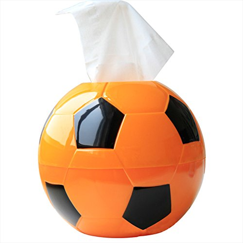 Kaimao Football Round Shaped Tissue Holder Box Cover Funny Toilet Paper Holder for Bathroom Office and Car (Green Pot O Gold Glasses)