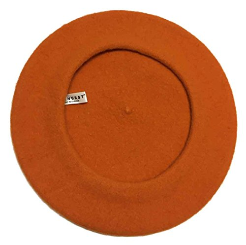 Parkhurst Classic Wool Beret (Orange)