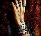 Ring chain bracelet in oriental ethnic style statement slave bracelet tribal bracelet FREE SHIPPING luxurious bohemian bracelet