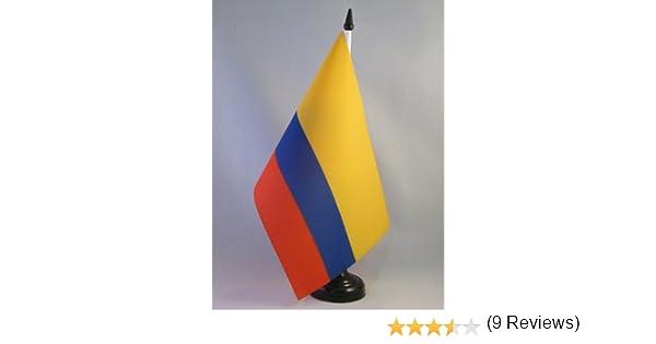 AZ FLAG Bandera de Mesa de Colombia 21x14cm - BANDERINA de DESPACHO Colombiana 14 x 21 cm: Amazon.es: Hogar
