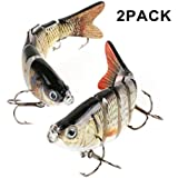 Scotamalone Fishing Lures Bass Trout Lures, 6 Segment, Tackle 6# High Carbon Steel Anchor Hook, Lifelike Multi Jointed Artificial Swimbait, Hight Quality Hard Bait, 4Inches/0.68Oz