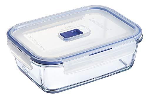 Luminarc 9207678 Pure Box Active - Recipiente Hermetico Rectangular, Vidrio, 1.97 L, 22 x 16 x 7cm