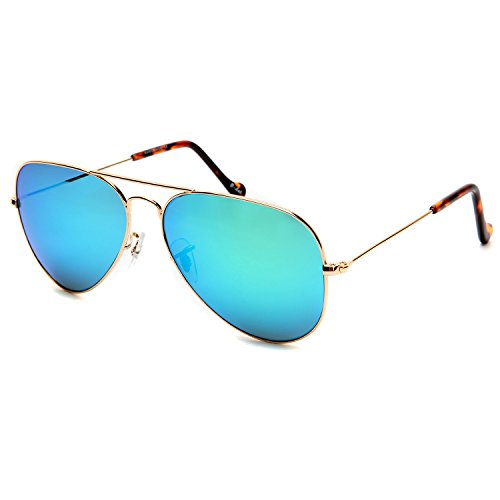 O-LET Mirrored Aviator Sunglasses for Women Men w/ Sun Glass Lens Aviators-100% UV - Big W Baby Sunglasses