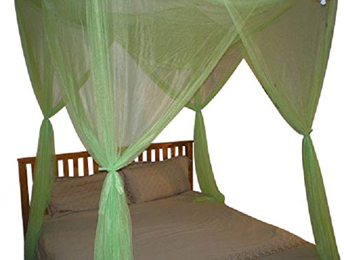 OctoRose 4 Poster Bed Canopy Netting Functional Mosquito Net Full Queen King Black