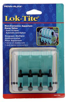 Penn Plax Lok-Tite Plastic Gang Valve Aquarium Pump Accessories