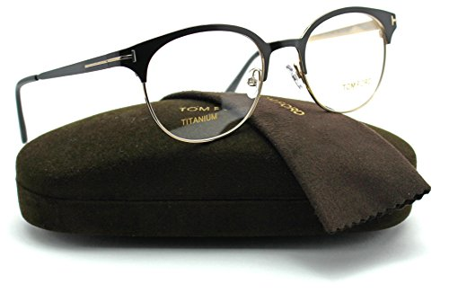 Tom Ford FT5382 Unisex Titanium Eyeglasses (Black Frame 005, - Discount Ford Tom Eyeglasses